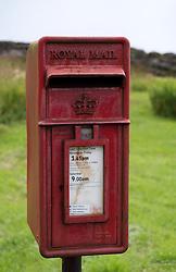 Rural Royal Mail post box in  Scotland, United Kingdom