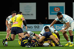 January 8, 2018 - Nanterre, Hauts de Seine, France - Clermont Prop DAVIT ZIRAKASHVILI in action during the French rugby championship Top 14 match between Racing Metro 92 and Clermont at U Arena Stadium in Nanterre - France.Racing won 58-6 (Credit Image: © Pierre Stevenin via ZUMA Wire)