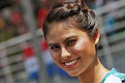 Grid girl.<br /> 02.10.2016. Formula 1 World Championship, Rd 16, Malaysian Grand Prix, Sepang, Malaysia, Sunday.<br /> Copyright: Photo4 / XPB Images / action press