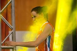 01-10-2017 AZE: Final CEV European Volleyball Nederland - Servie, Baku<br /> Nederland verliest opnieuw de finale op een EK. Servië was met 3-1 te sterk / Lonneke Sloetjes #10 of Netherlands