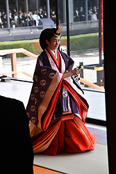 October 22, 2019, Tokyo, Japan: 22-10-2019 TOKYOPrincess Kiko attend the enthronement ceremony where emperor officially proclaims his ascension to the Chrysanthemum Throne at the Imperial Palace in Tokyo..../pool (Credit Image: © face to face via ZUMA Press)