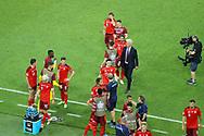 Switzerland celebrating at the final whistle during the UEFA Euro 2020, Group A football match between Switzerland and Turkey on June 20, 2021 at Baku Olympic Stadium in Baku, Azerbaijan - Photo Orange Pictures / ProSportsImages / DPPI