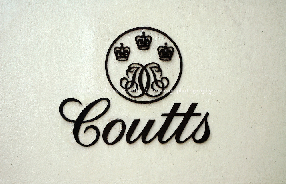 Coutts & Co Bank Sign - August 2009