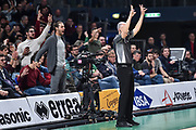 Gianmarco Tamberi, Carmelo Paternicò<br /> Umana Reyer Venezia - Happycasa Brindisi<br /> Finale<br /> LBA Legabasket Serie A Final 8 Coppa Italia 2019-2020<br /> Pesaro, 16/02/2020<br /> Foto L.Canu / Ciamillo-Castoria