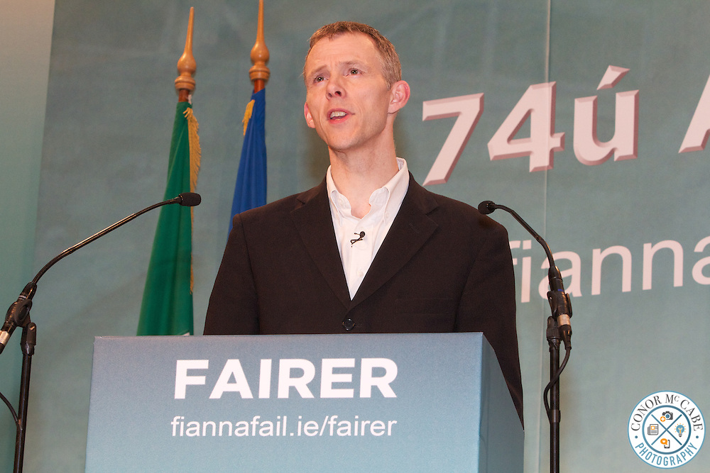 Picture of Professor Tim Bale Speaking at FF Ard Fheis as reguested to FF presss pffice