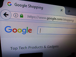 June 27, 2017 - Manila, Philippines - The website of Google Shopping service is seen in Manila, Philippines on Tuesday, June 27, 2017. According to news reports, the European Commission has issued a 2.42 billion euro fine on Google over the alleged promotion of its shopping service over other similar services in search results listings. (Credit Image: © Richard James Mendoza/NurPhoto via ZUMA Press)