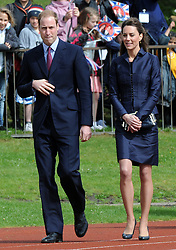 Prince William and Kate Middleton visit Witton Country Park in Darwen, Lancashire.