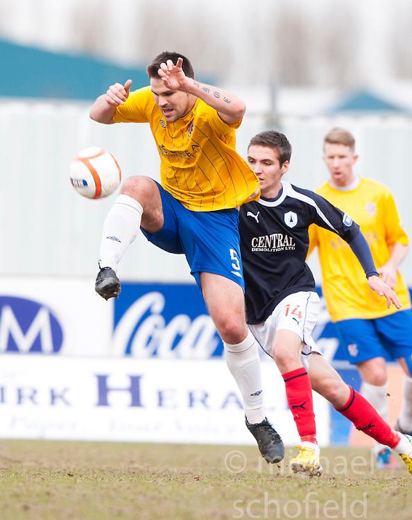 Cowdenbeath's John Armstrong..Falkirk 4 v 0 Cowdenbeath, 6/4/2013..©Michael Schofield..