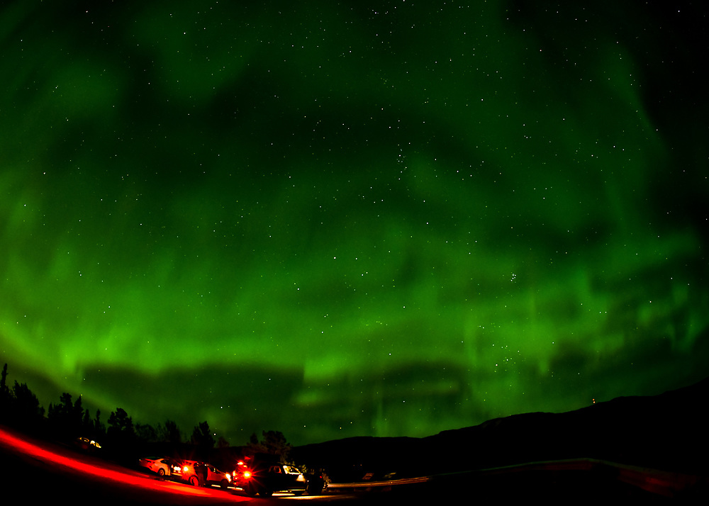 An evening at the drive-in theater, Yukon-style.