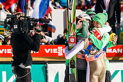Team Slovenia Jurij Tepes (SLO), Anze Semenic (SLO), Robert Kranjec (SLO) and Peter Prevc (SLO) during the Ski Flying Hill Team Competition at Day 3 of FIS Ski Jumping World Cup Final 2016, on March 19, 2016 in Planica, Slovenia. Photo by Grega Valancic / Sportida