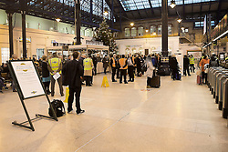 © Licensed to London News Pictures. 13/12/2016. Brighton, UK. A near empty Brighton station forecourt as members of the ASLEF union walked out for a 48 hour strike. Travellers are advised not to travel. Photo credit: Hugo Michiels/LNP