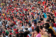 Crowds of people sitting in a stadium Spain