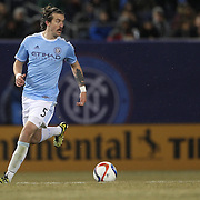 Jeb Brovsky, NYCFC, in action during the New York City FC Vs Sporting Kansas City, MSL regular season football match at Yankee Stadium, The Bronx, New York,  USA. 27th March 2015. Photo Tim Clayton