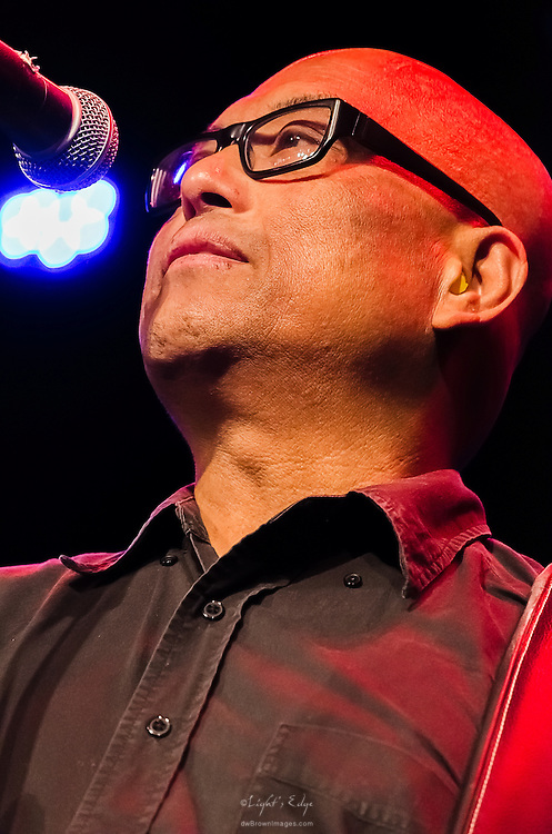 Severo Jornacion, bassist for The Smithereens, during their performance at the Landis Theater in Vineland, NJ.