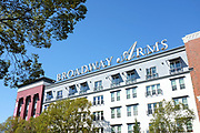 The Broadway Arms Apartments Signage