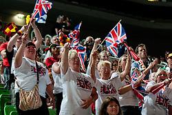 Fans of Great Britain at European Cheerleading Championship 2011, on July 2, 2011, in SRC Stozice, Ljubljana, Slovenia (Photo by Matic Klansek Velej / Sportida)