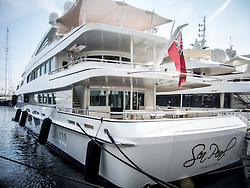 September 24, 2016 - Monaco, Monaco - Superyacht 'Sea Pearl'' (60m) pictured in Port Hercules for the 26th Monaco Yacht Show with some 125 of the most desirable superyachts from around the world on display between 28 September and 1 October. The Monaco Yacht Show is held in Port Hercules, and is Europe's biggest in-water display of superyachts. (Credit Image: © Hugh Peterswald/Pacific Press via ZUMA Wire)