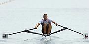 Poznan, POLAND.  2006, FISA, Rowing, World Cup, CZE M1X, Ondre SYNEK, the start area,  'Malta Regatta course;  Poznan POLAND, Fri. 16.06.2006. © Peter Spurrier   ....[Mandatory Credit Peter Spurrier/ Intersport Images] Rowing Course:Malta Rowing Course, Poznan, POLAND