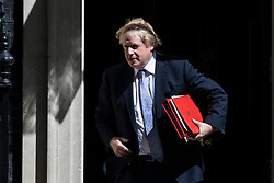 © Licensed to London News Pictures. 15/05/2018. London, UK. Foreign Secretary Boris Johnson leaves 10 Downing Street after the Cabinet meeting. Photo credit: Rob Pinney/LNP