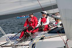 Peter Gilmour (AUS) YANMAR Racing. Danish Open 2010, Bornholm, Denmark. World Match Racing Tour. photo: Loris von Siebenthal - myimage