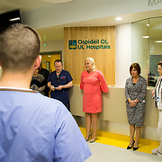 29.05. 2017.                                             <br /> IRELAND'S largest and most advanced Emergency Department has opened this Monday at University Hospital Limerick.<br /> <br /> Addressing the new Emergency Department team before it opened its doors was UHL CEO Colette Cowan.<br /> <br /> <br /> A €24 million project (development and equipment costs), the ED spans 3,850 square metres of floor space, over three times the size of the old department. In 2016, UHL had the busiest ED in the country, with over 64,000 attendances. Picture: Alan Place