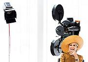 AMSTERDAM, 24-06-2021, Filmmuseum<br /> <br /> Koningin Maxima tijdens een werkbezoek aan het Collectiecentrum van Eye. Zij spreekt met onder meer collectiebeheerders en restauratoren over het beheer en de restauratie van en het onderzoek naar meer dan 54.000 filmtitels (ca. 200.000 filmblikken) die het filmmuseum vanaf 1946 heeft verzameld. <br /> Brunopress/POOL/Koen van Weel<br /> <br /> Queen Maxima during a working visit to the Eye Collection Centre. She speaks with collection managers and restorers, among others, about the management, restoration and research of more than 54,000 film titles (approx. 200,000 film cans) that the film museum has collected since 1946.