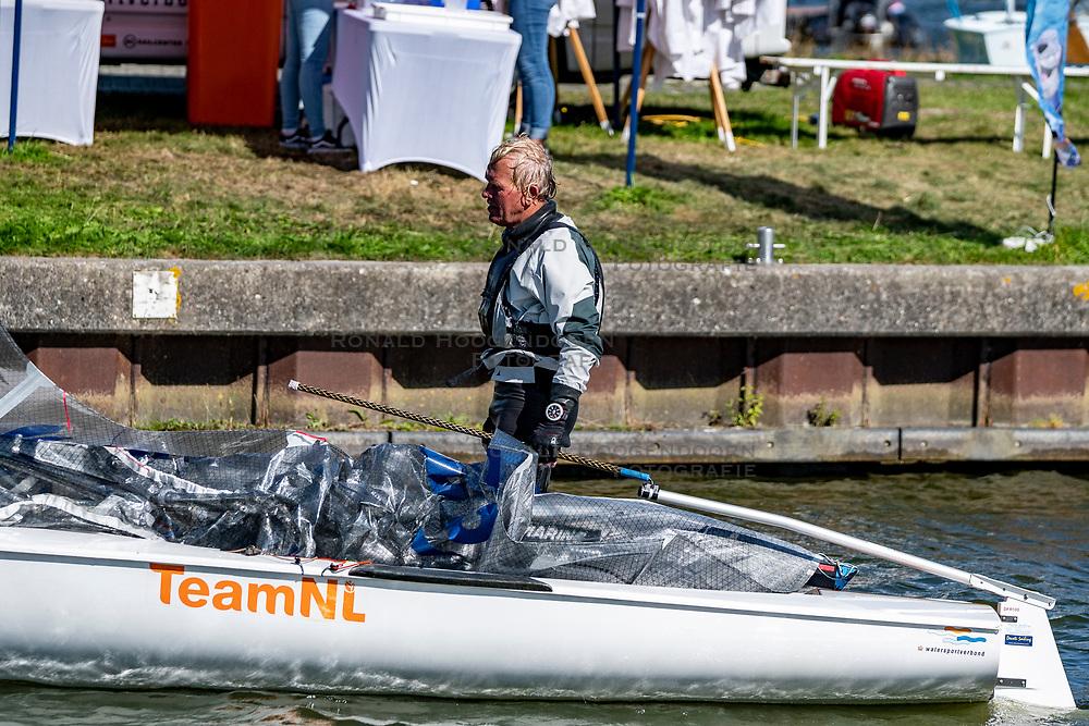 Roy Heiner in action by the Open Dutch Sailing Championships on September 18, 2020 in Medemblik, Netherlands