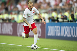 June 19, 2018 - Moscow - Kamil Grosicki of Poland in action during the 2018 FIFA World Cup Group H match between Poland and Senegal at Spartak Stadium in Moscow, Russia on June 19, 2018  (Credit Image: © Andrew Surma/NurPhoto via ZUMA Press)