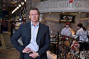 Yekaterinburg, Russia, 03/04/2006..Pavel Kukarskikh of Malachite in his city centre restaurant complex.