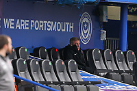Football - 2020 / 2021 Sky Bet League One - Portsmouth vs. Blackpool - Fratton Park<br /> <br /> Portsmouth Manager Kenny Jacket is supposed to be recovering at home after an operation and watching on a video link but is at todays match at Fratton Park <br /> <br /> COLORSPORT/SHAUN BOGGUST