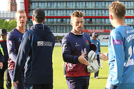 Lancashires Dane Vilas (Capt) congratulated on another win during the Royal London 1 Day Cup match between Lancashire County Cricket Club and Derbyshire County Cricket Club at the Emirates, Old Trafford, Manchester, United Kingdom on 2 May 2019.
