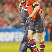 20 January 2007; Anthony Foley, Munster, leaves the field during the game. Heineken Cup, Pool 4, Round 6, Munster v Leicester, Thomond Park, Limerick. Picture credit: Matt Browne / SPORTSFILE
