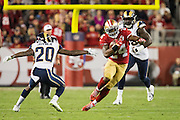 San Francisco 49ers running back Shaun Draughn (24) carries the ball against the Los Angeles Rams at Levi's Stadium in Santa Clara, Calif., on September 12, 2016. (Stan Olszewski/Special to S.F. Examiner)