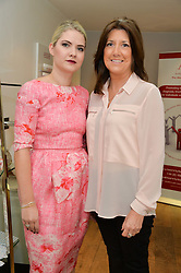 Left to right, SOPHIE GASS and TRUDIE LOBBAN Founder of the Arrhythmia Aliance at a Valentine's charity event to raise heart awareness and support the charity Arrhythmia Alliance held at Sophie Gass, 4 Ladbroke Grove, London on 13th February 2014.
