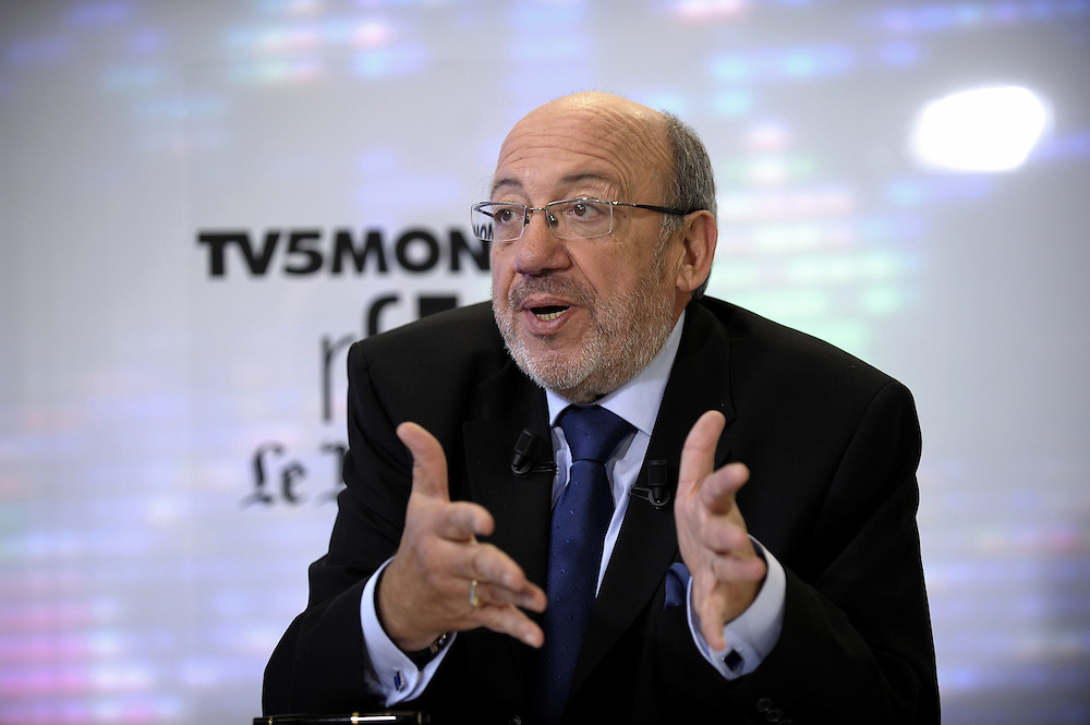 FRANCE - STRASBOURG - 16 NOVEMBRE 2008 - Journees europeennes du developpement 2008 - Studio TV Louis MICHEL (TV5 Monde, RFI , Le Monde)  © EC/CE.-.FRANCE - STRASBOURG - 16 NOVEMBER 2008 - European Development Days 2008 - TV Studio Louis MICHEL (TV5 Monde, RFI , Le Monde)  © EC/CE.