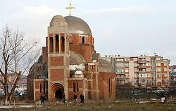 PRISTINA, KOSOVO - DECEMBER 14 - cerkev