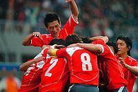 Fotball <br /> FIFA World Youth Championships 2005<br /> Emmen<br /> Nederland / Holland<br /> 12.06.2005<br /> Foto: ProShots/Digitalsport<br /> <br /> Sør-Korea v Sveits<br /> <br /> zuid korea viert de 1-0