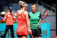 Gabriela Dabrowski of Canada and Demi Schuurs of the Netherlands in action during the doubles final of the Mutua Madrid Open 2021, Masters 1000 tennis tournament on May 8, 2021 at La Caja Magica in Madrid, Spain - Photo Rob Prange / Spain ProSportsImages / DPPI / ProSportsImages / DPPI