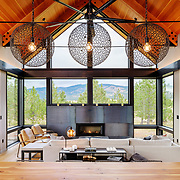 Home designed by Syndicate Smith, built by Merle Inc Custom Homes, interior design by Mandy Callaway Interiors, siding by Nakamoto Forestry.