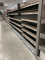 Waitrose Banbury panic buyers continue to strip supermarket shelves over coronavirus fears  photo by michael butterworth