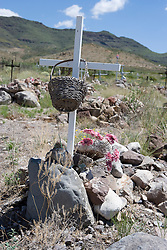 Cemetery, Shafter, Texas.