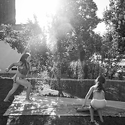"""With the social distancing mandate into its second month, Erin is more tolerant of small social gatherings as Brooklyn's friend was invited over to play on a warm, May afternoon. Still under Stage 2 of the Safer At Home order, all gatherings were still being restricted by the city's order to """"only allowed with members of your household."""""""