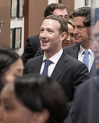 Mark Zuckerberg, Co-Founder and Chief Executive Officer of Facebook, makes the rounds on Capitol Hill prior to giving testimony before Congress on Tuesday and Wednesday on Monday, April 9, 2018 in Washington, DC, USA. Photo by Ron Sachs/CNP/ABACAPRESS.COM