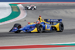 March 23, 2019 - Austin, TX, U.S. - AUSTIN, TX - MARCH 23: Alexander Rossi (27) in the NAPA AUTO PARTS, Honda powered Dallara IR-18 at turn 13 during Practice 3 at the IndyCar Classic held March 22-24, 2019 at the Circuit of the Americas in Austin, TX. (Photo by Allan Hamilton/Icon Sportswire) (Credit Image: © Allan Hamilton/Icon SMI via ZUMA Press)