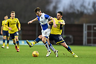 Bristol Rovers Midfielder, Ollie Clarke (8) and  Oxford United Forward, Agon Mehmeti (28) during the EFL Sky Bet League 1 match between Oxford United and Bristol Rovers at the Kassam Stadium, Oxford, England on 10 February 2018. Picture by Adam Rivers.