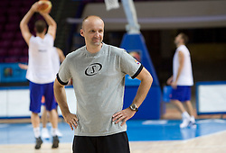 Head coach Jure Zdovc  at practice of Slovenian National Basketball team in Arena Torwar two days before the beginning of the Eurobasket 2009, on September 05, 2009 in Warsaw, Poland. (Photo by Vid Ponikvar / Sportida)