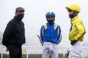 Jockey's George Bass and Oliver Timms - Mandatory by-line: Robbie Stephenson/JMP - 19/08/2020 - HORSE RACING - Bath Racecourse - Bath, England - Bath Races