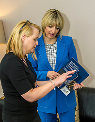 Pictured: Co-author of the toolkit Dr Melanie McCarry (right) discusse the IT application of the toolkit with Rape Crisis Helpline Co-Ordinator Angie Hawk<br /> New practical guidance for universities to tackle gender-based violence on campus was launched today (Wednesday 25 April) by Further and Higher Education Minister, Shirley-Anne Somerville,  .<br /> <br /> Guidance and training for staff, better data collection and well-publicised support information for students are some of the recommendations set out in the toolkit, which has been produced by the University of Strathclyde and funded by the Scottish Government.<br /> <br /> The toolkit, which will be adapted for colleges, takes forward the principles set out in the #emilytest campaign set up by Fiona Drouet, in memory of her daughter Emily.<br /> <br /> The Minister visited Glasgow Rape Crisis Centre and heard about the work they do to support people affected by gender-based violence and their support in developing the toolkit. Ms Somerville met Fiona Drouet and other organisations involved in the development of the toolkit to discuss the #emilytest campaign and on-going work to support students affected by gender-based violence.<br /> <br /> Ger Harley   EEm 25 April 2018