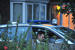 © Licensed to London News Pictures. 23/06/2017. <br /> GREENWICH, UK.<br /> Police outside the property.<br /> A murder investigation has been launched after a women's body was found in the back garden of a property in Tunnel Avenue, Greenwich.   The woman believed to be in her 50s appears to have been stabbed.<br /> Photo credit: Grant Falvey/LNP