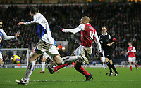 Photo: Paul Thomas.<br /> Blackburn Rovers v Arsenal. The Barclays Premiership. 13/01/2007.<br /> <br /> Thierry Henry (R) scores for Arsenal.